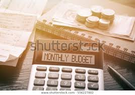 Calculator Text Monthly Budget Calculator Currency Stock