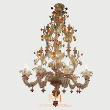 primavera hand blown glass chandelier 8 lights