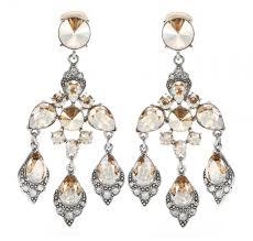oscar de la a chandelier clip earrings