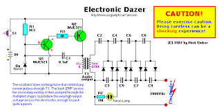 electronic dazer high voltage stun gun jacobs ladder voltage schematic
