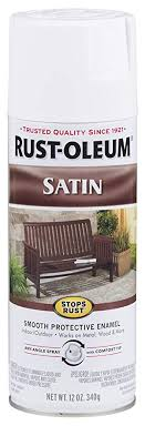 rust oleum 7791830 satin enamel spray 12 ounce white