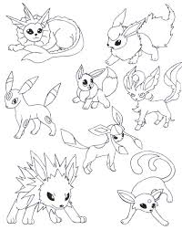 Small Picture Pokemon Coloring Pages Eevee Evolutions Image Gallery HCPR