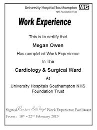 Work Experience Certificate Template Certificate Templates