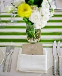 green table runner wedding ...