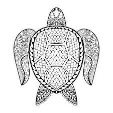 tribal coloring pages.  Tribal Hand Drawn Sea Turtle Mascot For Adult Coloring Pages In Doodle Zentangle  Tribal Style Throughout Tribal Coloring Pages