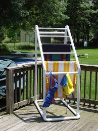 pvc pool towel holder diy pool towel