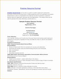 Sample Resume For Sap Fico Consultant Lovely Resume Format For Sap