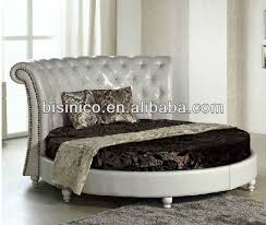 Bisini Modern Furniture, Leather Round Bed, Italian Style Double Bed Design  bed frame