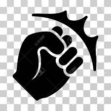 Fist Transparent Background Fist Strike Icon Vector Illustration Style Is Flat Iconic Symbol