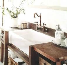 farm sink bathroom vanity farmhouse