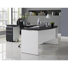 altra furniture altra pursuit white and gray desk with storage
