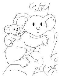 Small Picture Koala with joey coloring pages Download Free Koala with joey