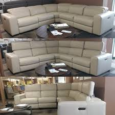 warehouse m 136 power reclining leather sectional with folding power headrest contemporary