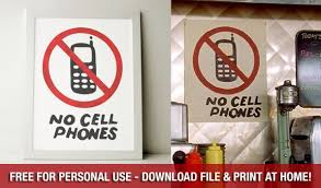 No Cell Phones Sign Printable Attention Gilmore Girls Fans Make Your Kitchen Look Like Lukes