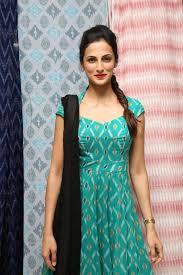 Kalamkari Churidar Neck Designs For Stitching Shilpa Reddy Latest Photos At Pochampally Ikat Art Mela