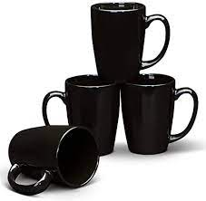 Buy electronics, apparel, books, music & more. Amazon Com Serami Black Coffee Mugs With Large Handles And 14oz Capacity Set Of 4 Kitchen Dining