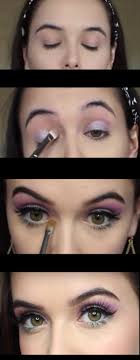 makeup tutorials for green eyes spring makeup tutorial purple mint green eyes easy