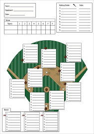 Baseball Line Up Card Template 9 Free Printable Word Pdf