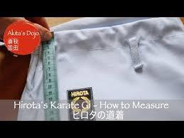 Hirota S Karate Gi How To Measure Video Youtube