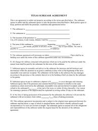 Sample Sublease Agreement Texas Residential Sublease Agreement Template For Impressive