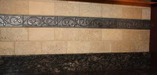 backsplash metal tiles decorative accents