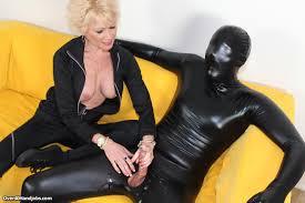 Mature Mistress Nikki Sixxx Handjob Dominates Her Masked Slave