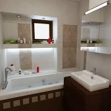 Bilder 3d Interieur Badezimmer Weiß Braun Baie Simion 7