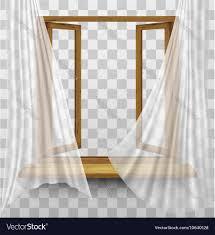 window frame transparent. Unique Transparent Wooden Window Frame With Curtains On A Transparent Vector Image Intended Window Frame Transparent M