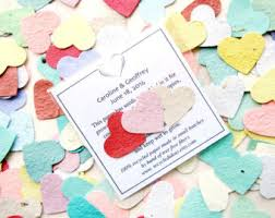 100 plantable wedding favors hearts seed paper hearts Seed Cards Wedding Favors 150 plantable paper wedding favors flower seed paper hearts packets custom printed cards plantable seed cards wedding favors