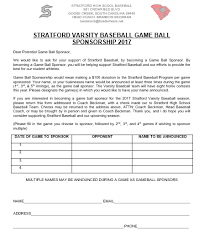 sponsorship forms for fundraising stratford team home stratford knights sports