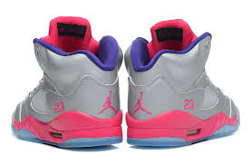 air jordan shoes for girls grey. girls air jordan 5 retro gs cement grey pink flash-raspberry red-electric purple shoes for