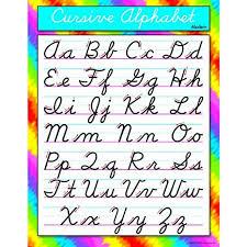 Cursive Alphabet Modern Chart Set Of 3