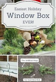 Christmas Window Box Decorations Easiest Christmas Window Box Idea EVER Hometalk 7