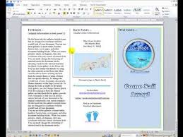 How To Make A Trifold Brochure In Word 2007 Design A Brochure In Word Tri Fold Brochure Template Word 2007 How