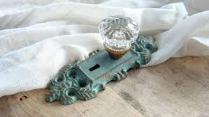 ... Cool Accessories For Door Decoration With Shabby Chic Door Knobs :  Charming Image Of Vintage Light ...