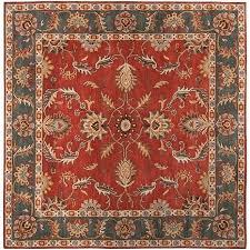 5x5 square rug square area rugs red cream grey traditional pattern unique amazing 5x5 square area