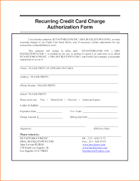 Credit Card Authorization Form Template Quickbooks 6 Hotel Letter ...