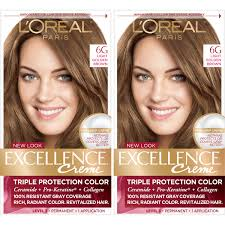 Loreal Light Brown Details About Loreal Paris Excellence Creme Permanent Hair Color 6g Light Golden Brown 2 Pack