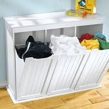 white wooden 3 door laundry organizer for best laundry organizer ideas