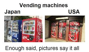 How Many Vending Machines In The Us Stunning Tony's Thoughts Vending Machines In Japan And USA You Compare