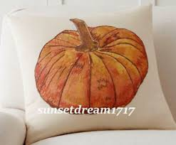 Image Is Loading Pottery Barn Fall Pumpkin Oversized Pumpkin Pillow Cover