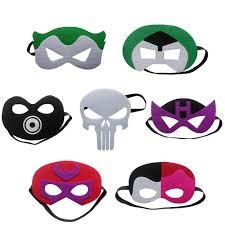 Mask Decorating Supplies 100pcsset children Cartoon Halloween masks Villain heroes Mask 57