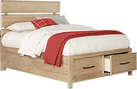 full size bed. Midcity Loft Sandstone 3 Pc Full Slat Bed With Storage Size A