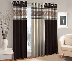 Buy Curtains <b>Stylish</b> Modern <b>3 Piece</b> Eyelet Polyester Window ...