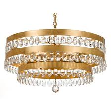 crystorama lighting group perla antique gold six light chandelier