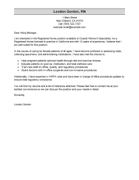 nurse cover letter sample job and resume template nurse cover letter template