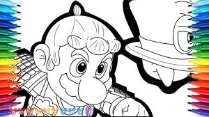 Cappy Mario Odyssey Coloring Pages Printable