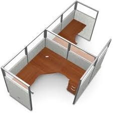 office desk cubicle. Workstation Panel System 1x2 Configuration Office Desk Cubicle