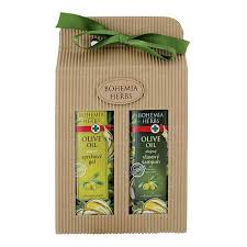 gift pack cosmetics olives shower gel hair shoo