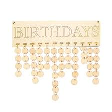 wooden birthday reminder board family friends diy event calendar decor ornament 2